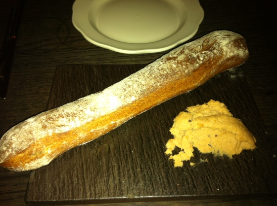 Buckwheat baguette and butter